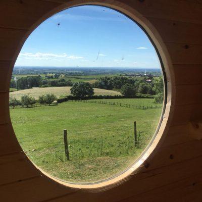 Custom Built Shepherd Hut Window