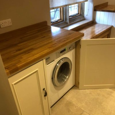 Handmade Wooden Utility Washing Machine Cupboards
