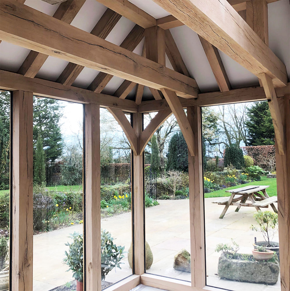 Oak timber framed garden room